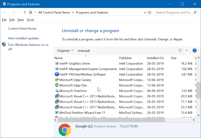check disk space usage by programs apps in Windows 10 pic2