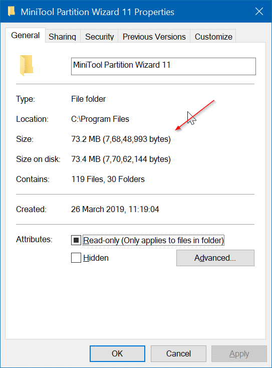 check disk space usage by programs apps in Windows 10 pic4