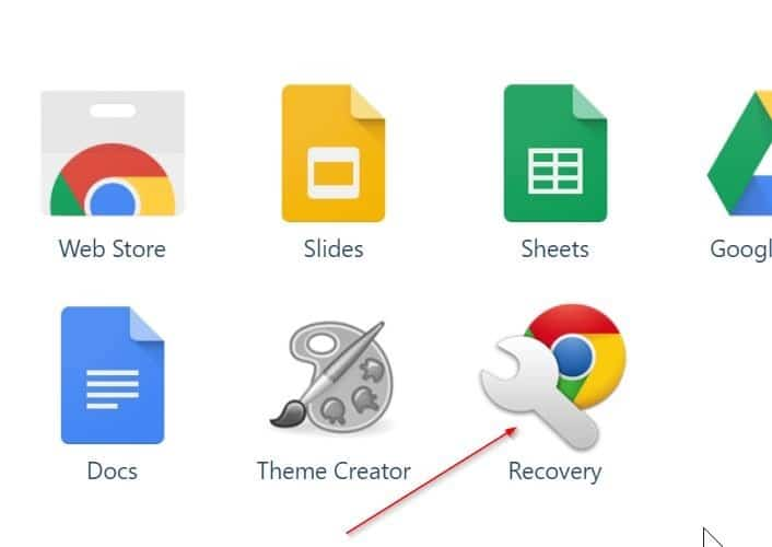 create google chrome recovery drive on Windows 10 pic2