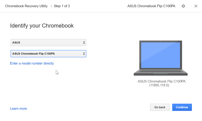 create google chrome recovery drive on Windows 10 pic5