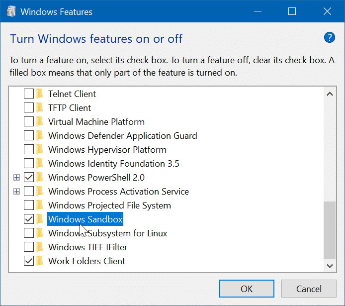 safely run untrusted programs in Windows 10 pic2