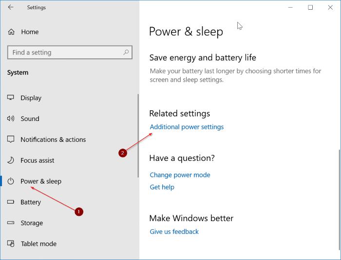 hibernate Windows 10 when battery is low pic1