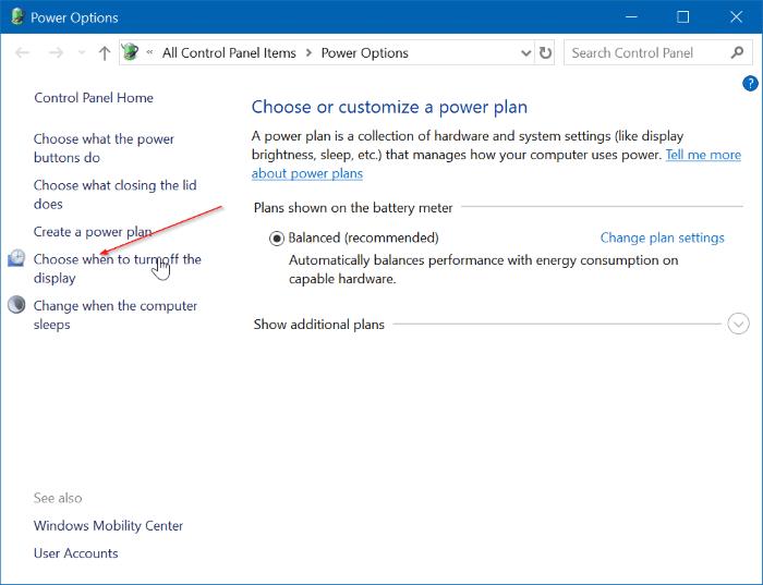 hibernate Windows 10 when battery is low pic2