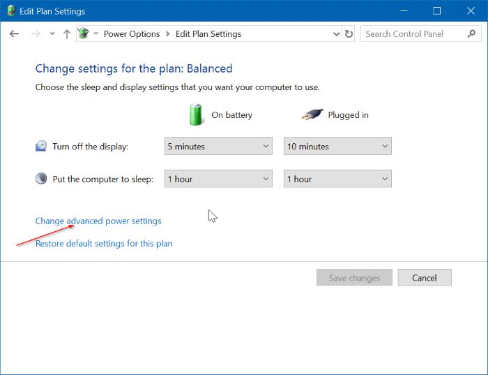 hibernate Windows 10 when battery is low pic3