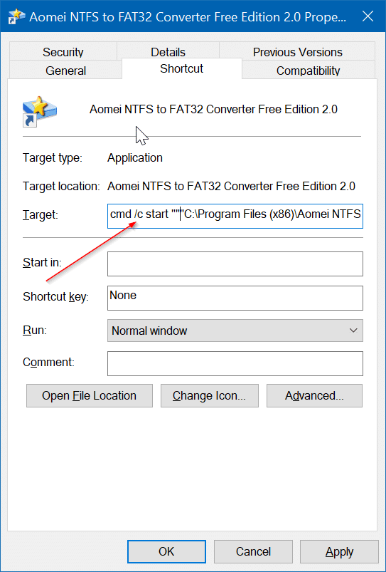 remove yellow and blue shield from program shorcuts on the desktop in Windows 10 pic3