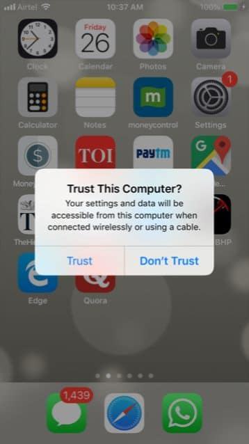 Windows 10 photos app not detecting iphone