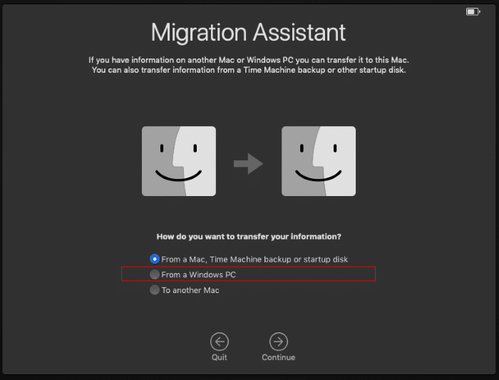 Migrate data from Windows 10 to Mac pic4