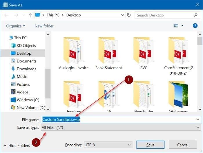 change Windows Sandbox Settings pic3