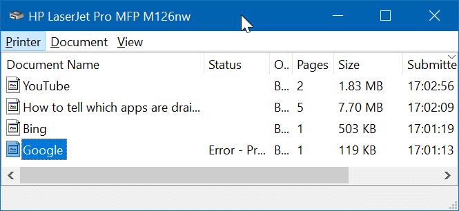 delete print queue documents in Windows 10 pic01