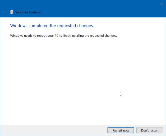 enable hyper-v in Windows 10 pic5