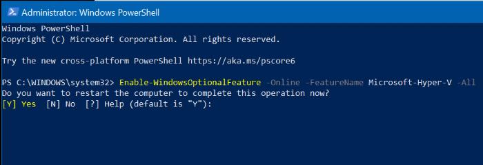 enable hyper-v in Windows 10 pic7