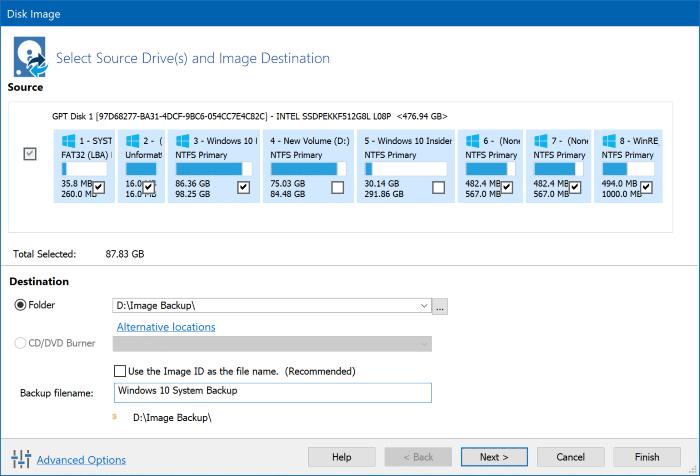 Create Windows 10 system image backup using Macrium Reflect Free pic3