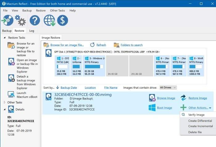 create windows 10 system image backup with macrium reflect