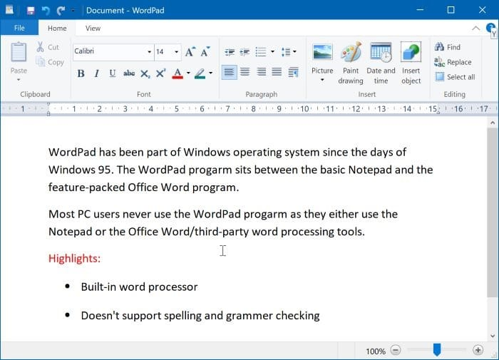 install or uninstall WordPad in Windows 10