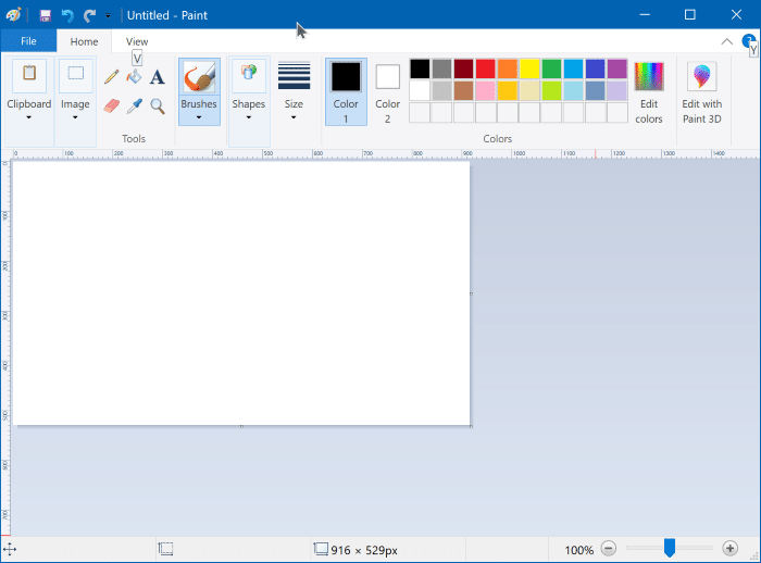 install or uninstall Microsoft Paint in Windows 10