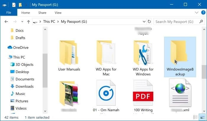 create system image backup in Windows 10 pic10