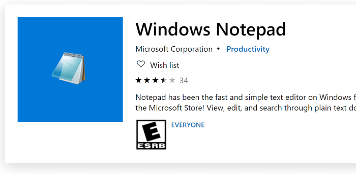 install or uninstall Notepad in Windows 10