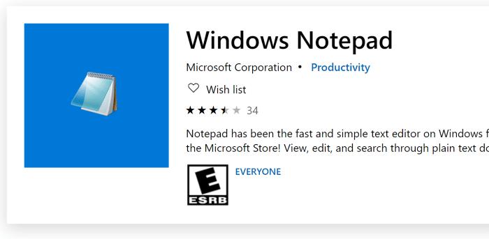 install or uninstall notepad in Windows 10
