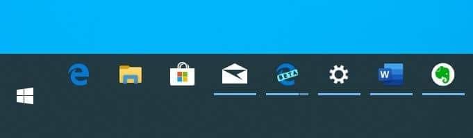change Windows 10 taskbar size