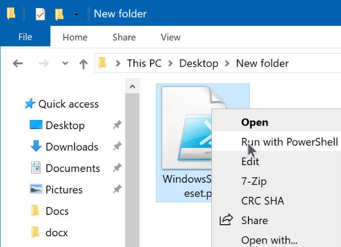 reset Windows 10 search via powershell pic1