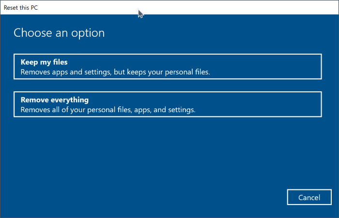 reset windows 10 without losing apps and programs