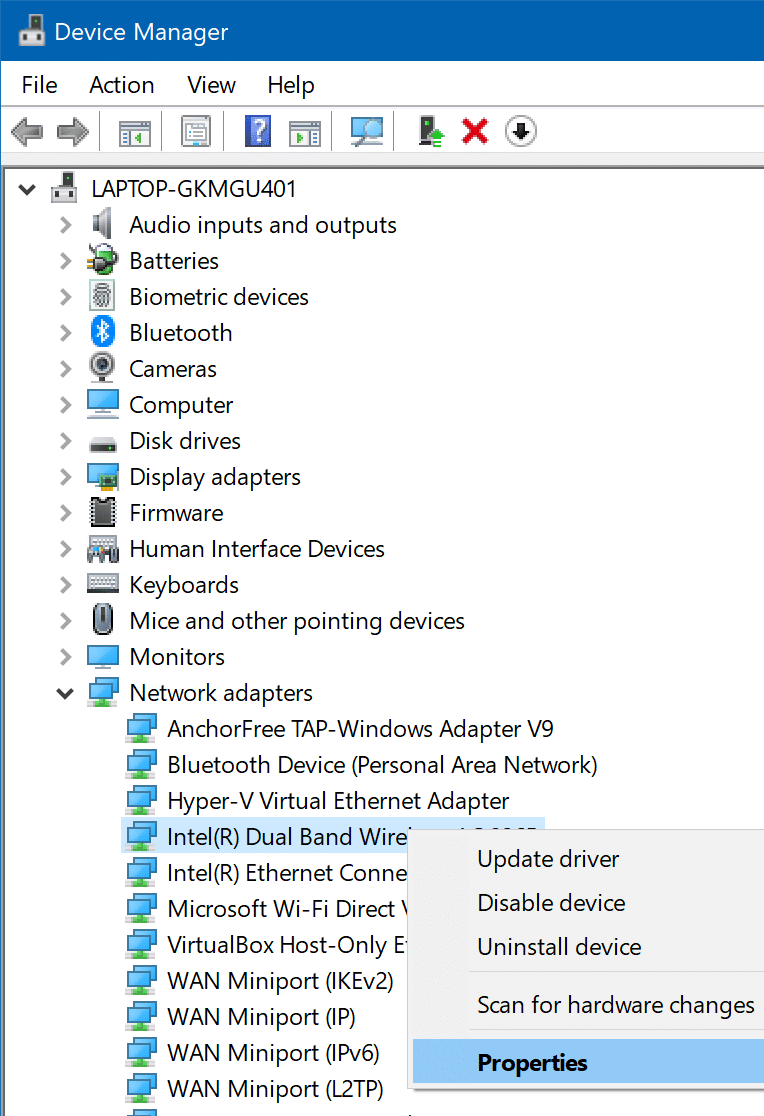 windows 10 automatically not connecting to Wi-Fi pic1