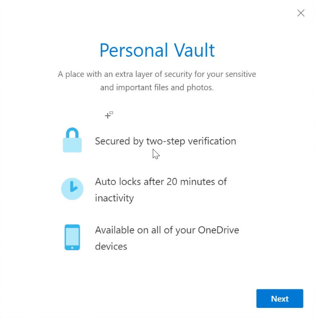 OneDrive Personal vault pic1.2