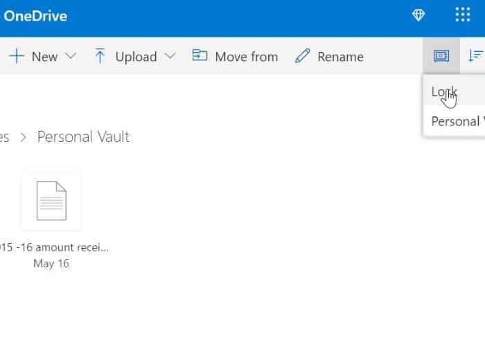 OneDrive Personal vault pic3