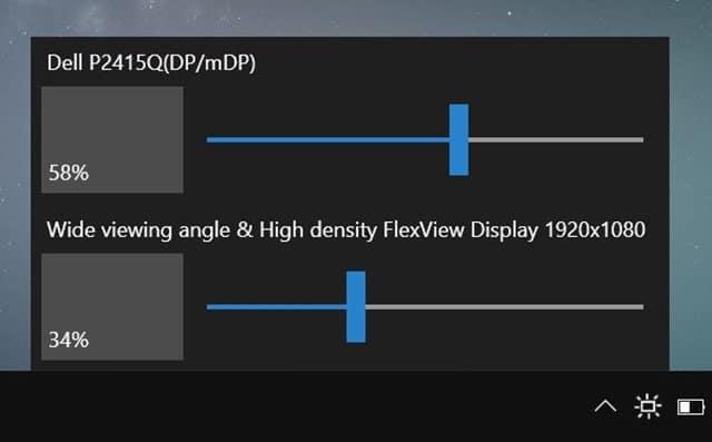 change external monitor brightness Windows 10