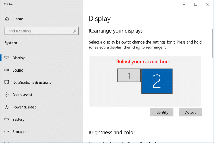 change external monitor screen resolution in Windows 10 pic2