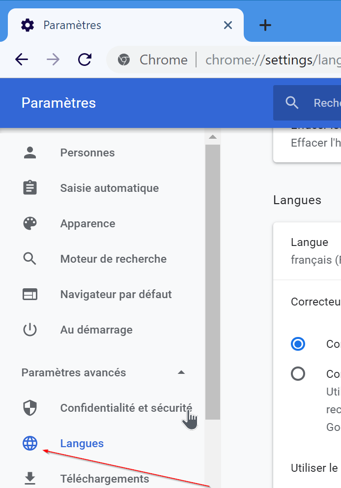 change google chrome language to english pic3
