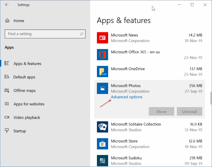 We can't open this file error in the Photos app in Windows 10 pic1
