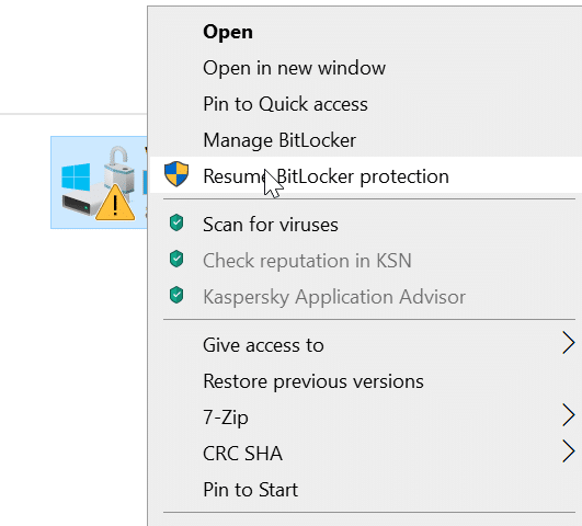 bitlcoker icon on drives in Windows 10 pic4