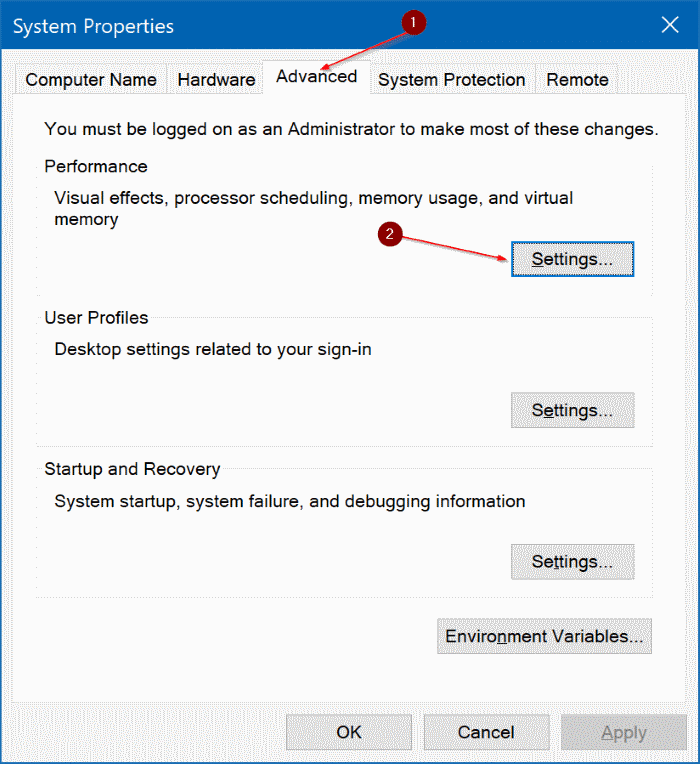 delete pagefile.sys in Windows 10 pic1