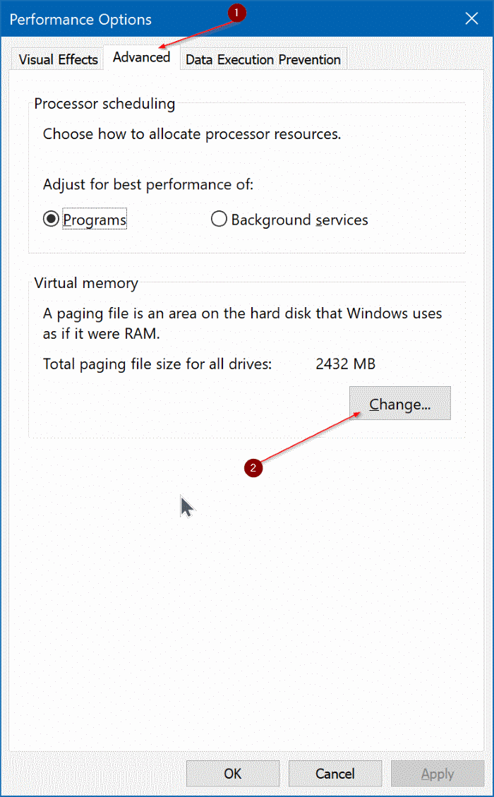 delete pagefile.sys in Windows 10 pic2