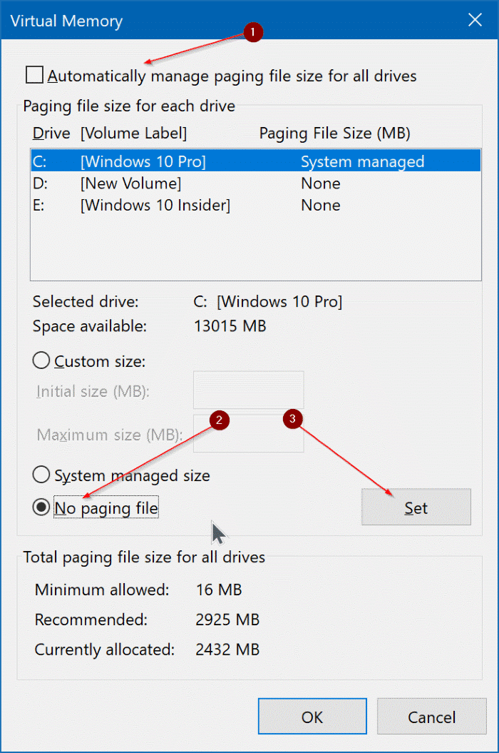 delete pagefile.sys in Windows 10 pic3