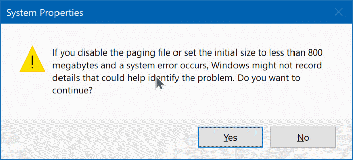 delete pagefile.sys in Windows 10 pic4