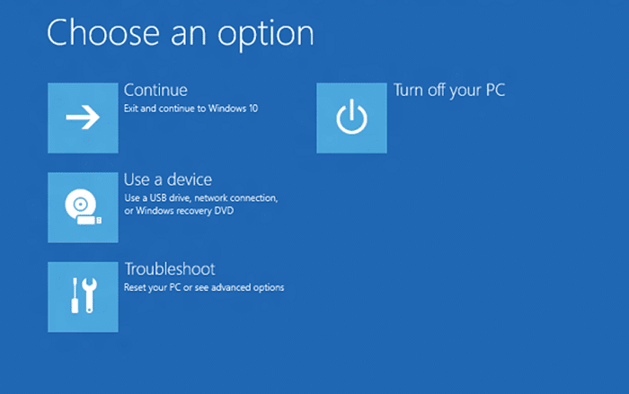 enable or disable WinRE in Windows 10
