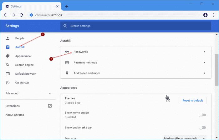 export google chrome passwords in Windows 10 pic2