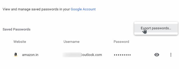 export google chrome passwords in Windows 10 pic4