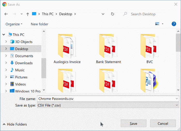 export google chrome passwords in Windows 10 pic7