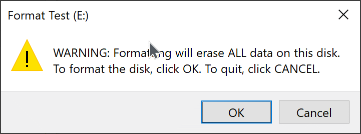 format drives in Windows 10 pic3