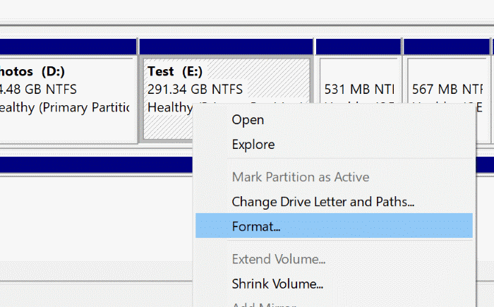 format drives in Windows 10 pic6