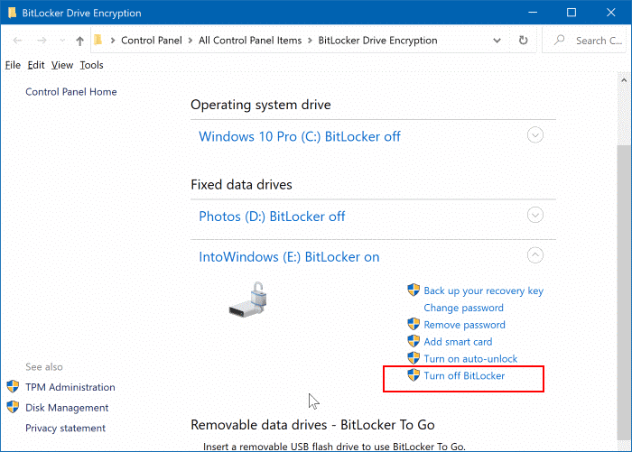 lock icon on drives in Windows 10 File Explorer pic4