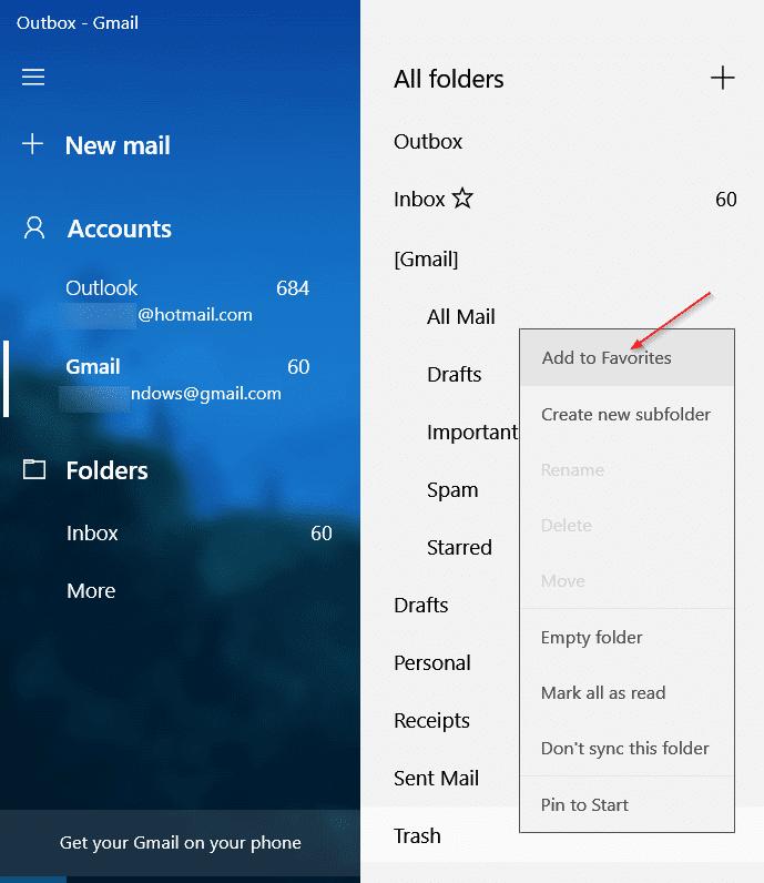 Add Gmail to Windows 10 Mail (1)