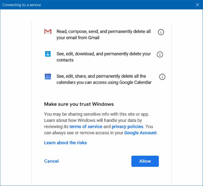 Add Gmail to Windows 10 Mail (3)