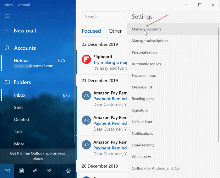 Add Gmail to Windows 10 Mail pic02