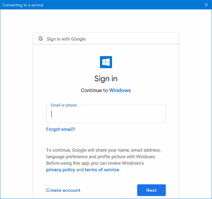 Add Gmail to Windows 10 Mail pic03.1