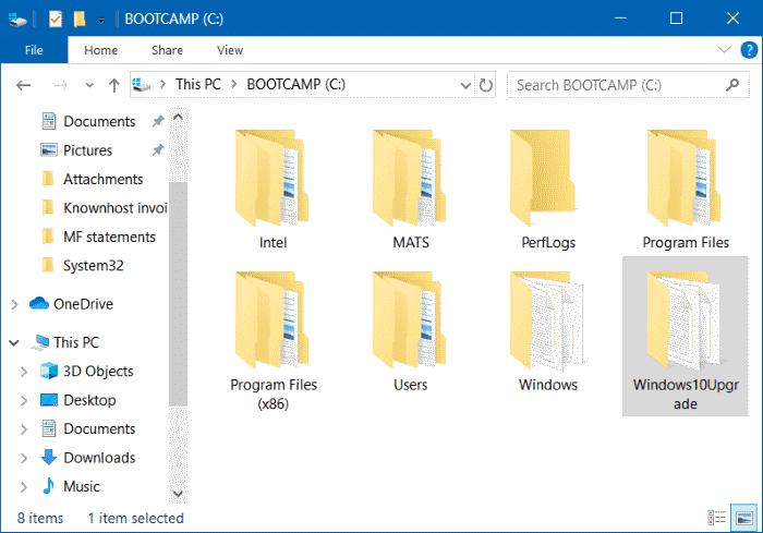 Delete Windows10Upgrade folder in Windows 10 pic1