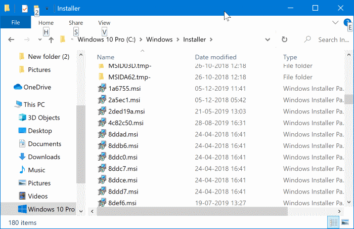 Is it safe to delete files from Windows installer folder (2)